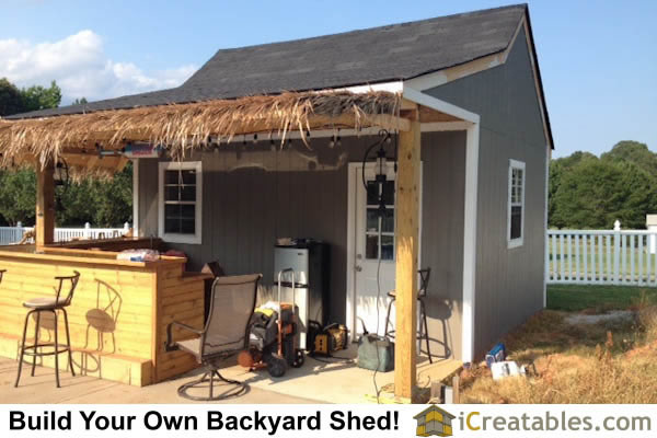 Garden shed photos pictures of garden sheds for Pool house cabana plans