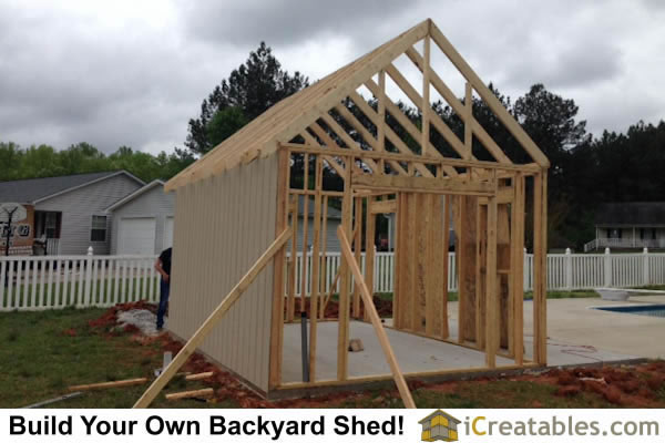 Garden shed photos pictures of garden sheds for Pool house shed plans