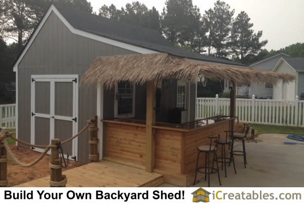 10x16 pool house cabana plans with bar and deck