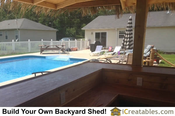 Garden shed photos pictures of garden sheds for Pool shed with bar plans