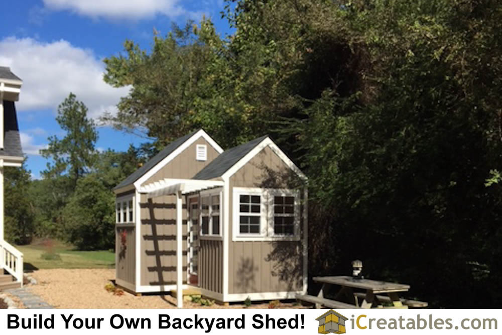 Beautiful Garden Shed Plan With A Trellis!