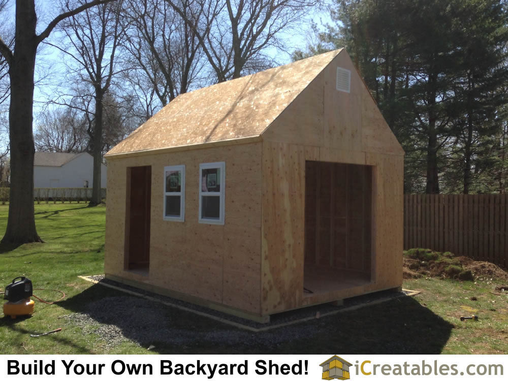Fabulous Completed Framing Of The Storage Shed With Garden Sheds Nj