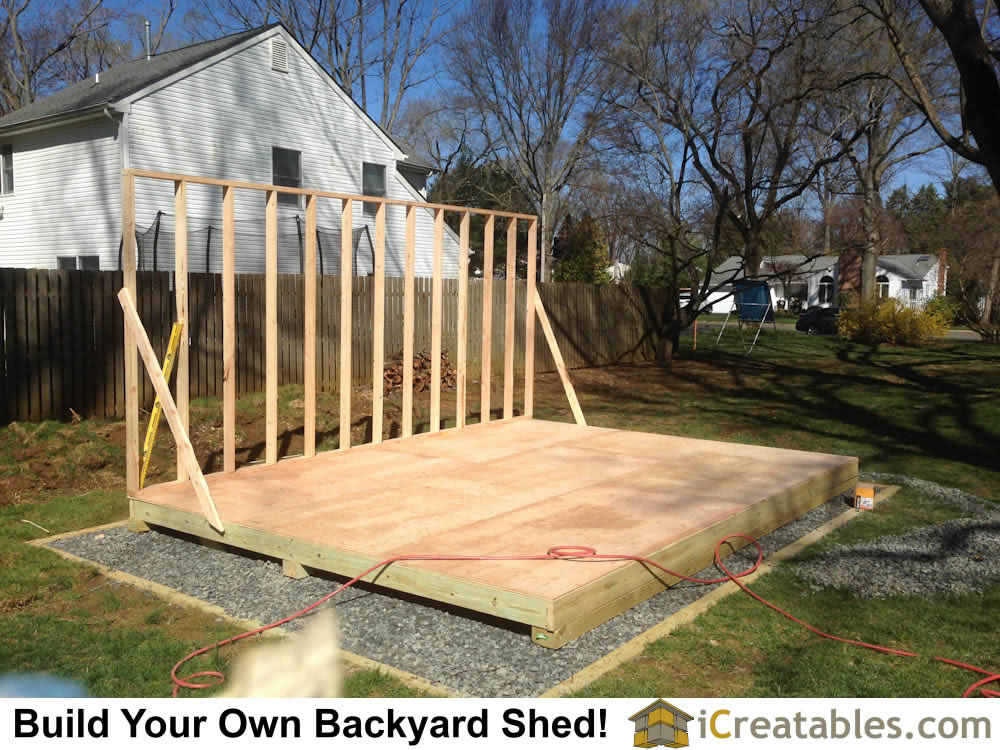 Framing The Shed Floor And The First Wall Of The Shed.
