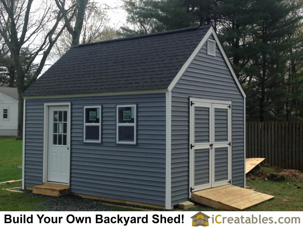 12x16 garden shed completed with vinyl siding - Garden Sheds Nj