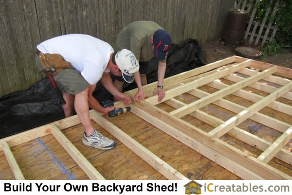 Wall Framing for garden shed design.