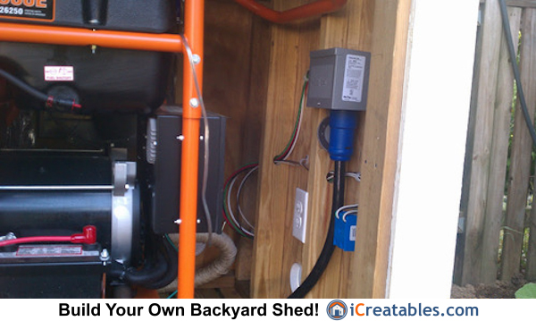 Generator Shed Power Cord