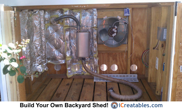 generator shed exhaust fan