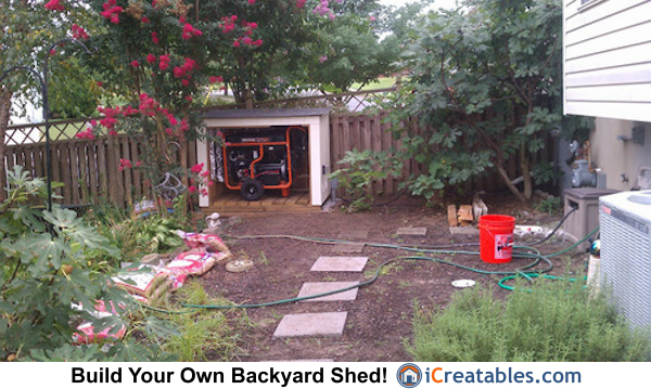 generator shed with generator