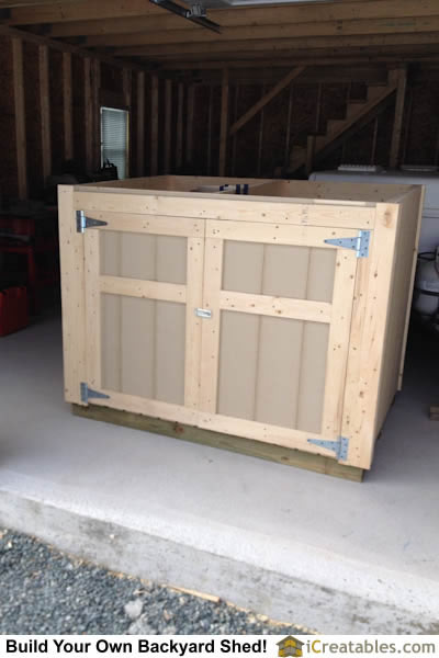 Shed plan with doors closed