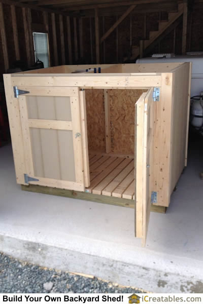 Generator Shed Front No Roof on Portable Generator Transfer Switch Wiring