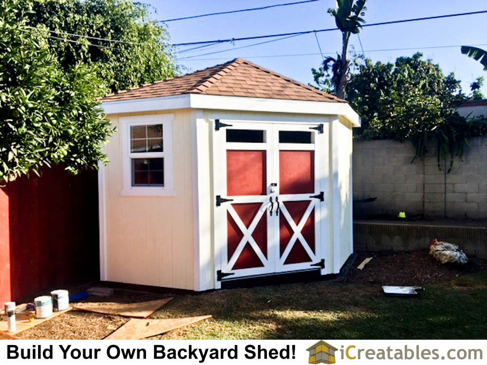 Pictures of sheds with garage doors garage door shed photos for Shed roof plans