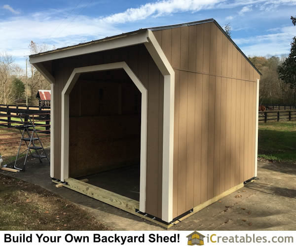 Completed 10x10 run in shed built with plans from iCreatables.com