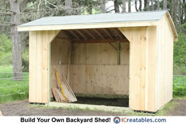 10x14 Run In Shed
