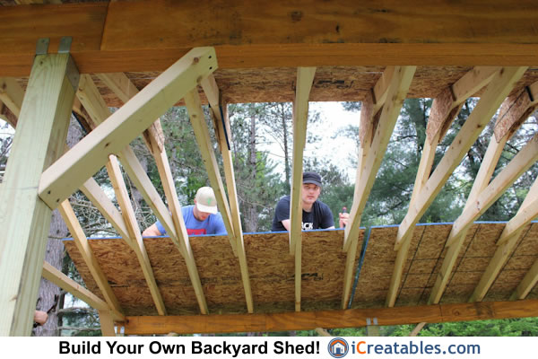 10x14 Run In Shed Rafter and beam details