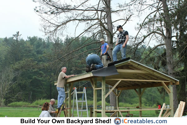 Run in shed roofing install