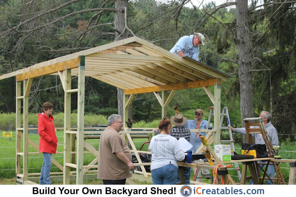 10x14 Run In Shed start roof sheet
