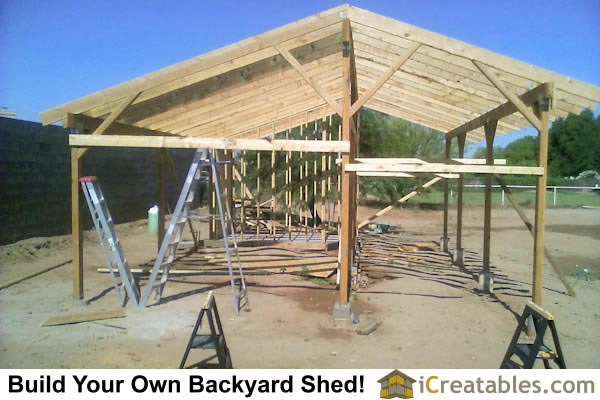 shed bastrop sheds loafing blog installed texas cover in