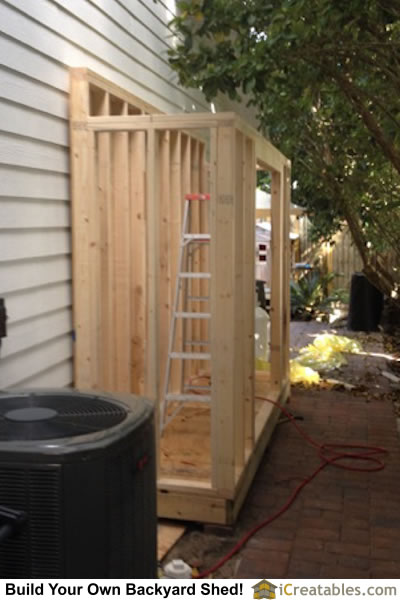 3x12 Lean to shed wall framing.