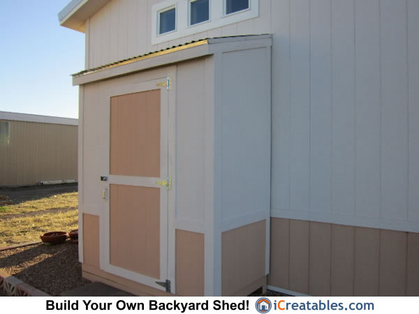 3x6 lean to shed plans right elevation