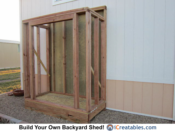 3x6 lean to shed wall framing