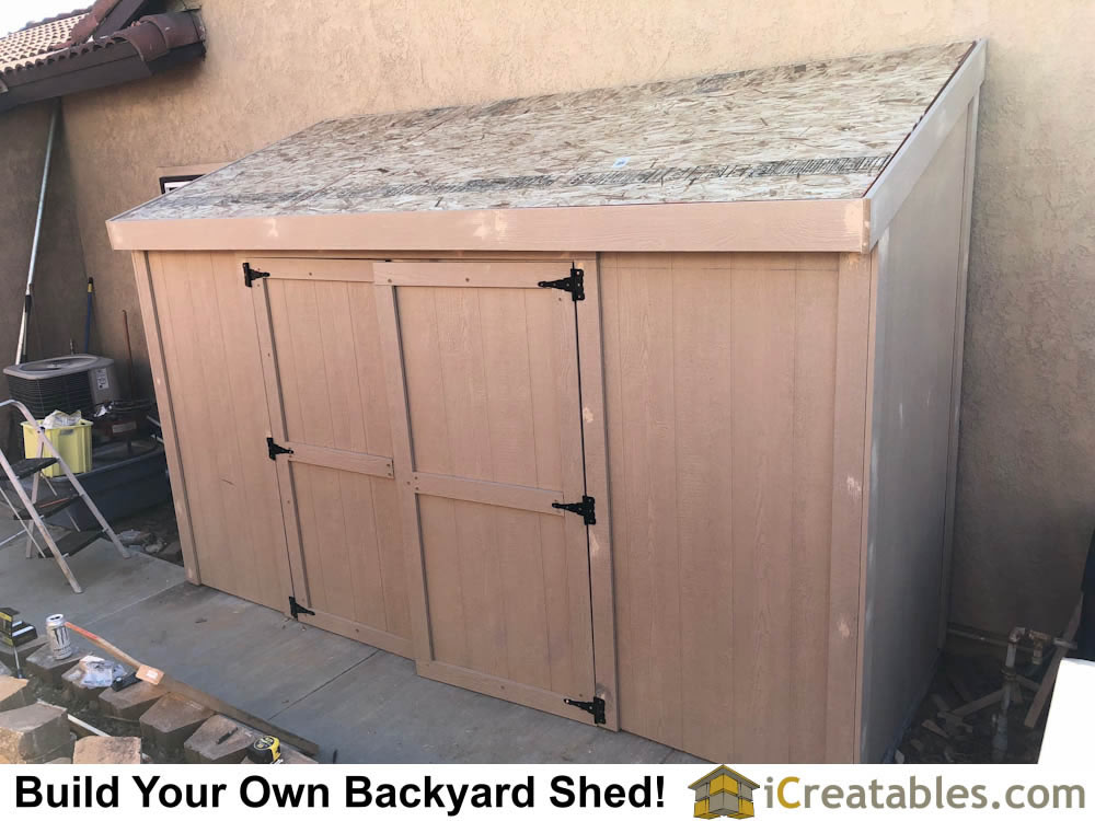 build double doors for storage shed.