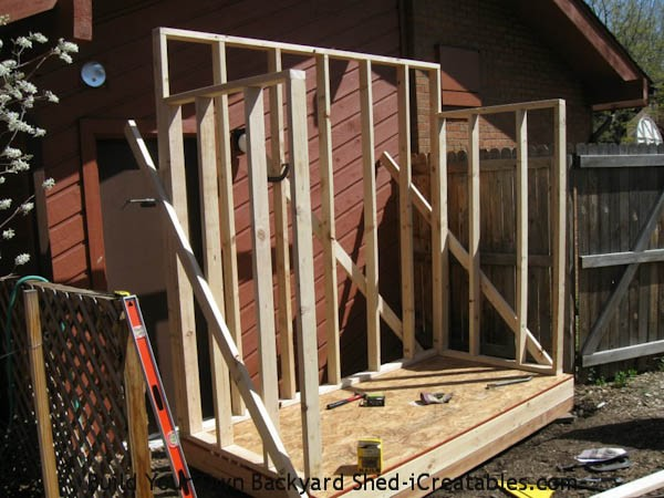 Lean to shed plans easy to build diy shed designs for Lean to shed attached to house