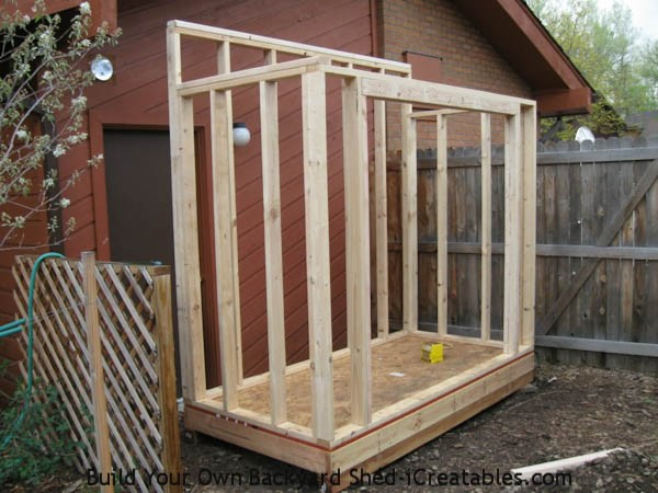 Build A Shed Against A Wall Metal Sheets