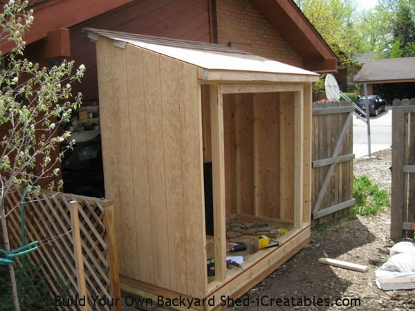 How to Build a Small Lean to Storage Shed