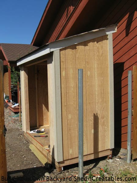 exterior trim installed on storage shed