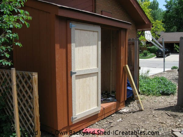 hang door on storage shed
