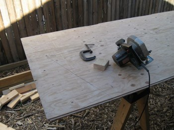 cutting lumber for side walls