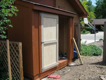 first shed door installed