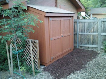 landscaping around shed completed