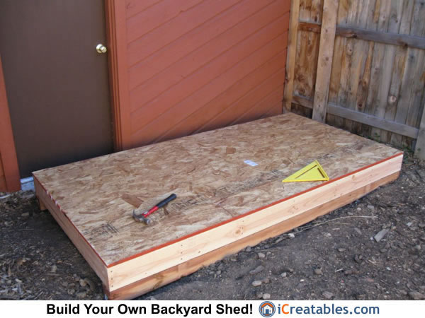 Lean To shed floor sheeting