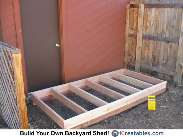 Lean To shed floor framing