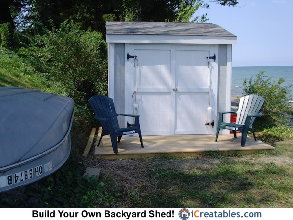 4x8 lean to storage shed plans