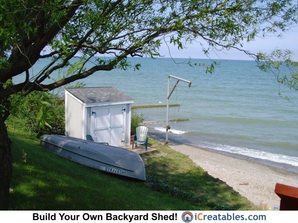 4x8 lean to backyard shed plan