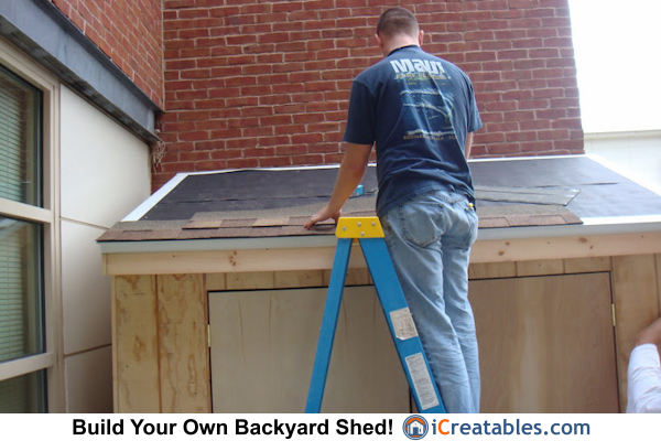 4x8 lean to shed roofing install