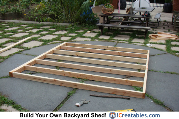 4x8 lean to shed wall framing