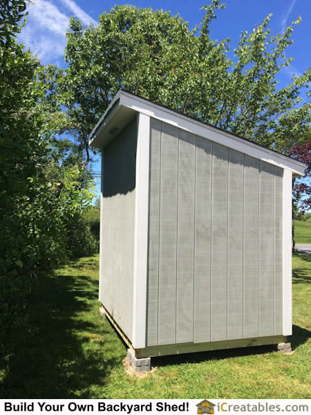Rear view of lean to shed plans.