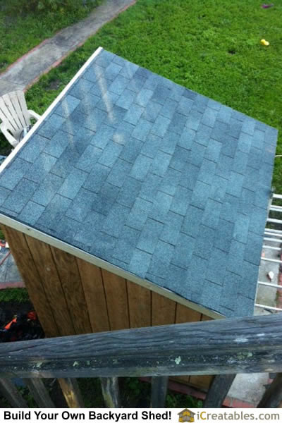 How to install roof shingles on lean to shed.