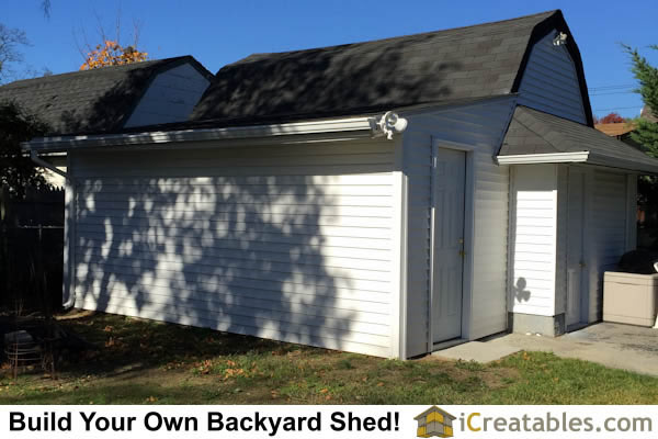 Completed 8x10 lean to backyard shed attached to existing structure! by iCreatables.com