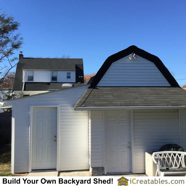 Completed lean to shed attached to existing structure!