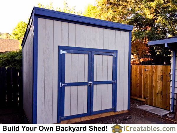 Completed 8x10 lean to backyard shed! by iCreatables.com