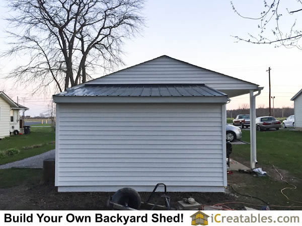 Lean to shed plans attached to garage.