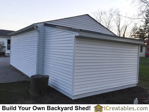 Lean to shed plans attached to house.