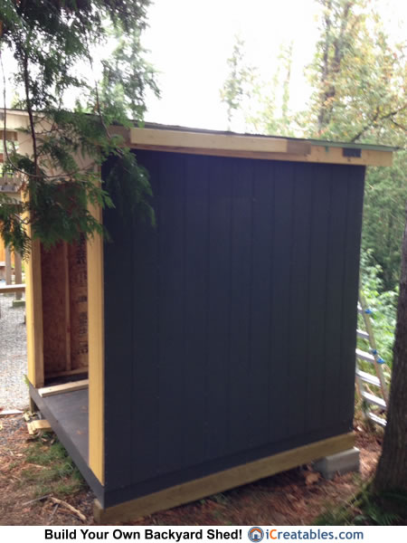 8x8 lean to shed side view painting