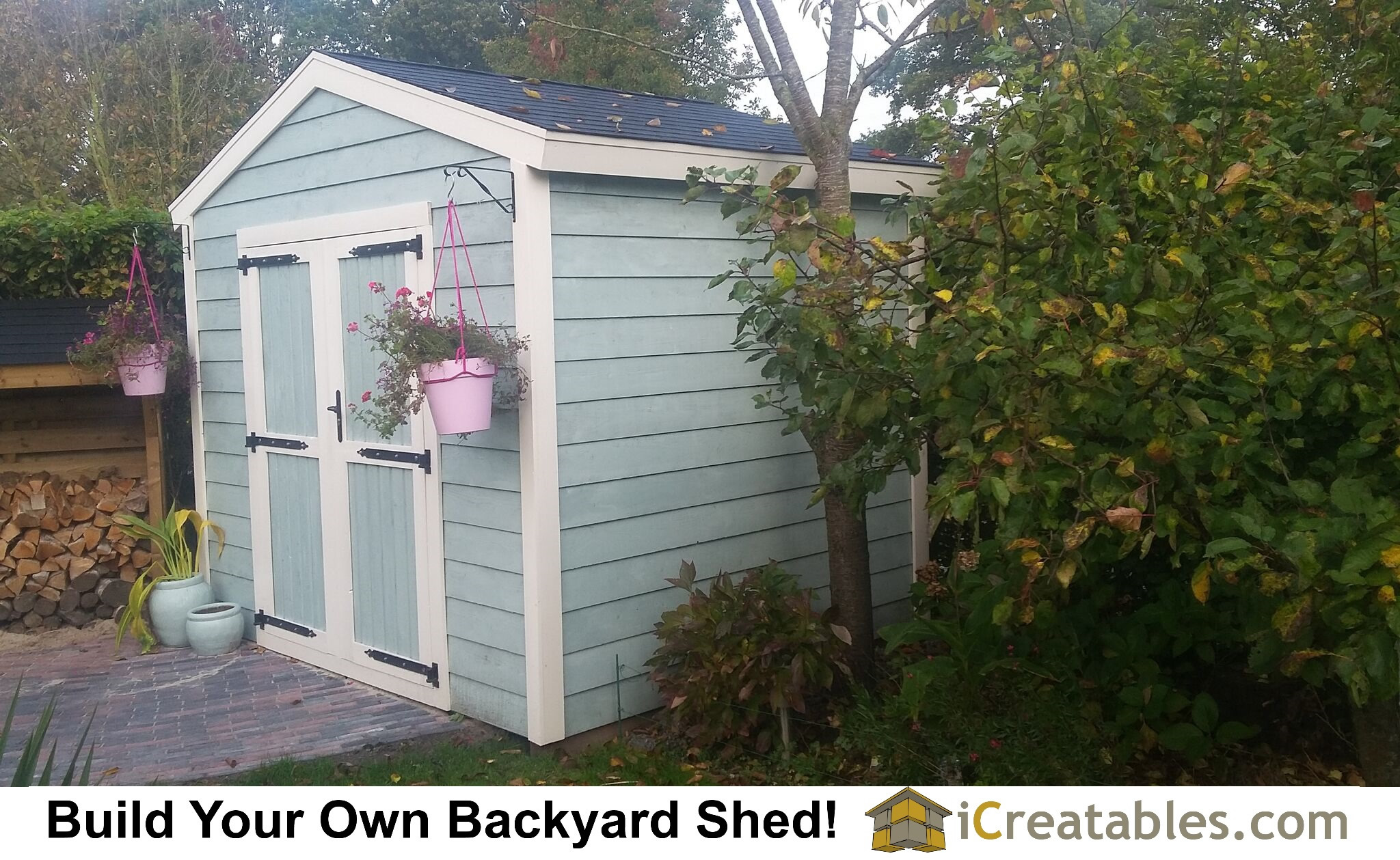 2400x3000 Garden Shed plans (8x10 in imperial measurement) built and beautifully finished in the Netherlands.