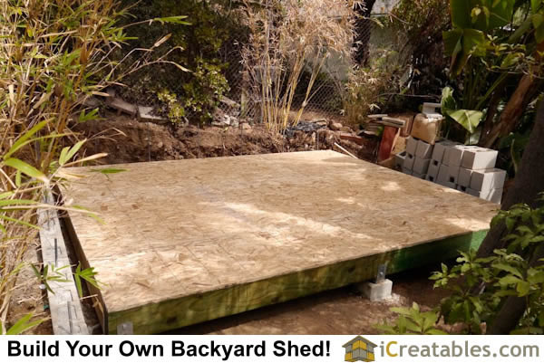 10x12 Modern Shed Floor Sheeting