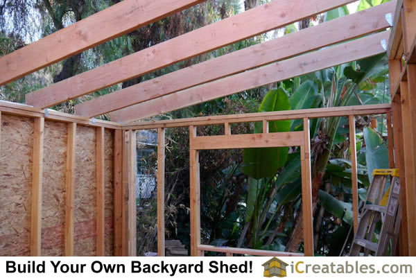 10x12 Modern Shed Roof Frame